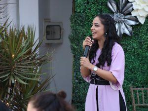 beautiful girl with mic