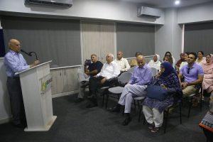 men giving speech Conference Room