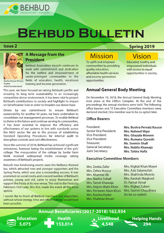 Bulletin Newsletter 2019
