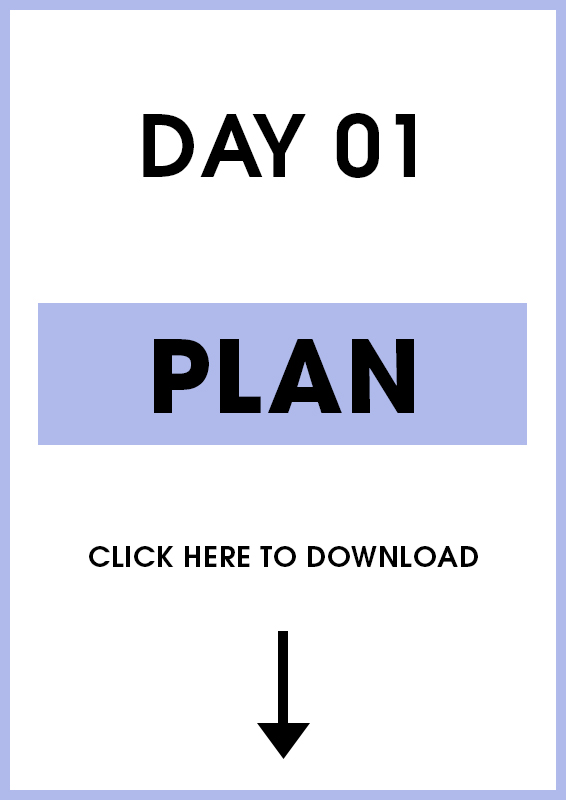 Day 1 (Planning) Introduction and Activity sheet