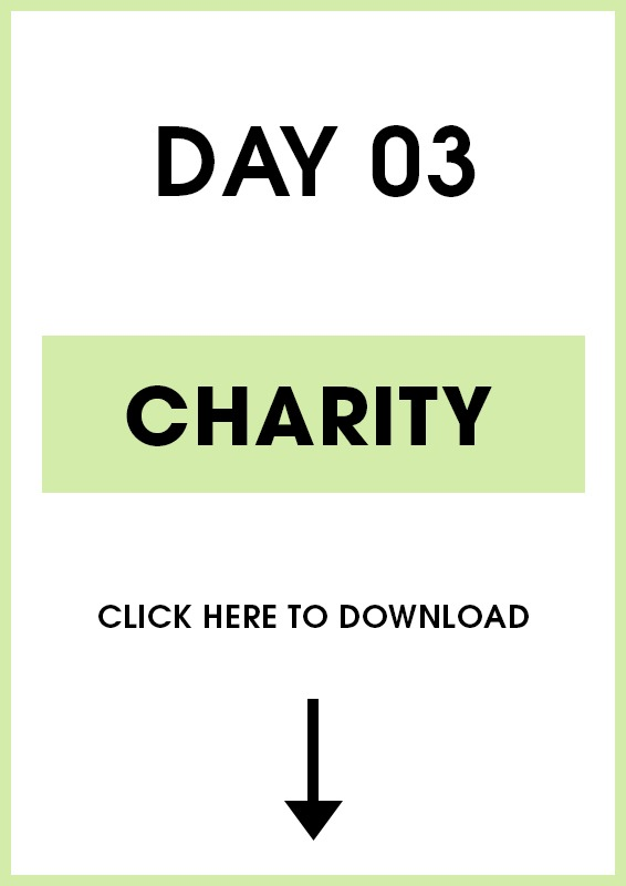 Day 3 Charity (Introduction + Activities)