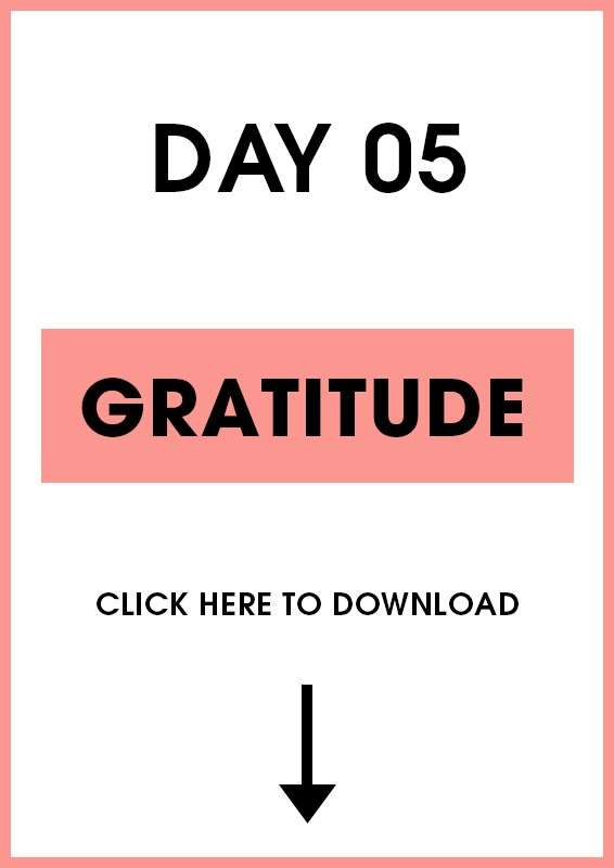 Day 5 Gratitude (Introduction + Activities)